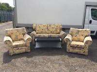 Two Seater Sofa Bed and Two Chairs
