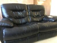Matching 2 seater and 3 seater black leather sofas for sale. they are both in excellent condition.