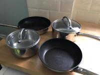 Prestige frying pans and saucepans