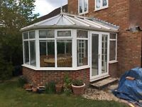 Conservatory, UPVC, dismantled and ready for collection.