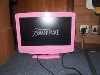 "19"" HD Pink ALBA TV Built in Freeview & DVD Player"