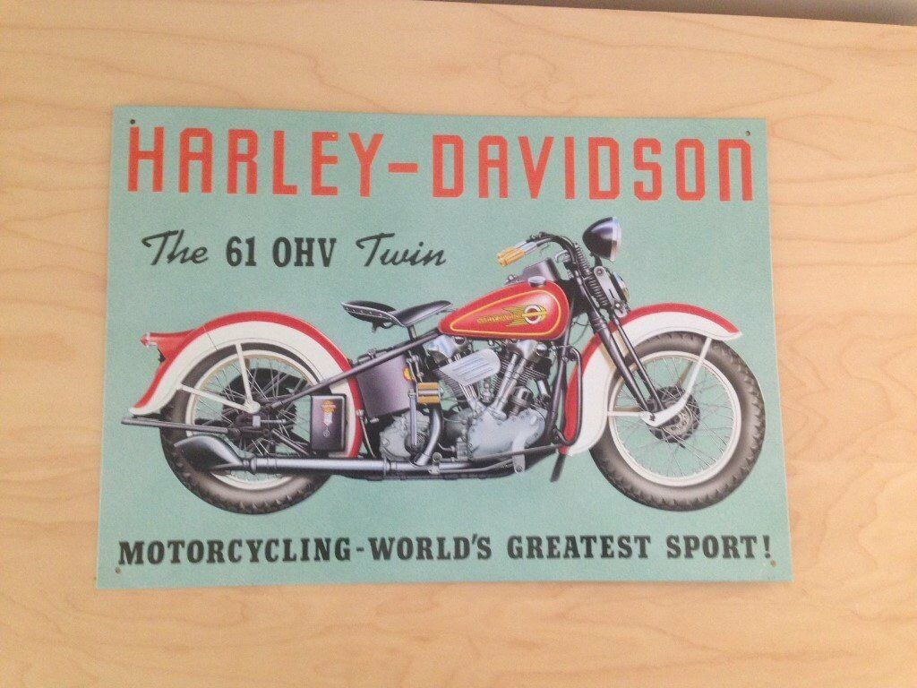 3 x Harley Davidson Metal / Tin Signs (40 x 30cm)