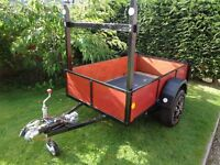 """TRAILER 6ft x 3 ft 6"""", Ladder RACK, Handy Size Ready to go!"""