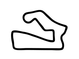 Road America Track Outline Vinyl Decal Race Track