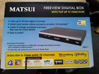 Matsui Freeview Digital Box Complete with Remote & Scart