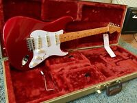 Fender FSR '57 nitro candy red '50's Stratocaster. Rare guitar with tweed case.