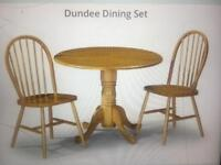 Solid Wood Drop Leaf Dining Set - DUNDEE