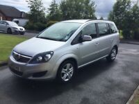 2013 VAUXHALL ZAFIRA 1.6i EXCLUSIVE 7 SEATER P/EX WELCOME