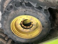 John Deere Row Crop Wheels and Tyres - Been modified for wider front axle on the John Deere 6155r