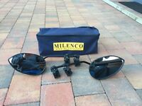 Pair of Milenco Aero flat towing mirrors - Jordanstown