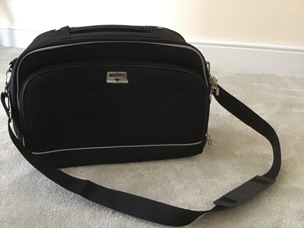 Antler, lockable, black travel bag. Never used.