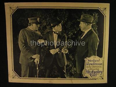 20s Herbert Rawlinson His Mystery Girl 1923 VINTAGE LOBBY CARD OS93