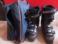 ladies Nordica ski boots size 6. some scuffs but very good condition, worn 3 times . with bag.