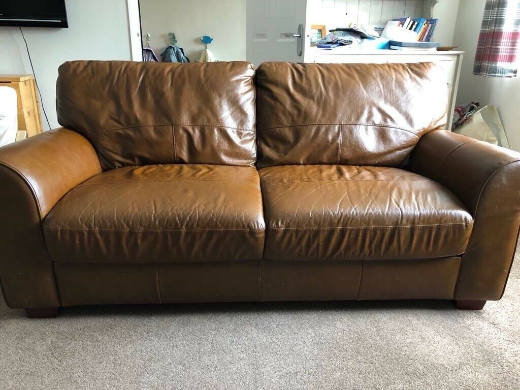 Brown Leather Sofa In Ipswich Suffolk Gumtree