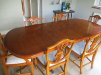 Bradley Dining Table and Six Chairs [ walnut ]