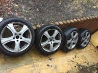 """Alloy wheels new tires 17"""""""