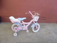 "Angelina Ballerina pink 14"" bike with stabilisers"