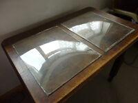 Restauration glass, 6 mouthblown window panes
