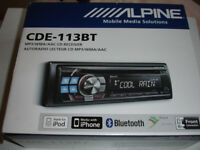 Alpine CDE-113BT CD Bluetooth Receiver **CD does not work,all other functions good**