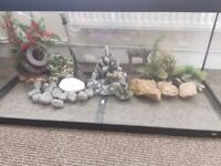 180l Juwel fish tank with light , decorations ,stones,pump and heater