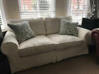 Laura Ashley 2 seater sofa (off white)