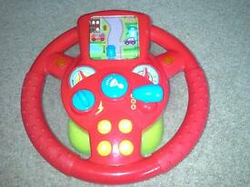 Marks and Spencers My First Steering Wheel - Red