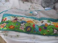 PINK CHANGING MAT NOT USED AND COT BOOK MOBILE NO BOX
