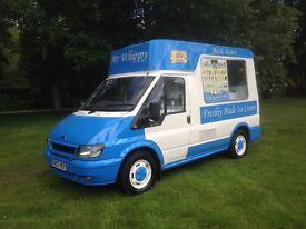 Ice cream van, plus events and stock