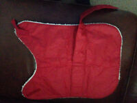 PET WATERPROOF COAT WITH WARM LINING Also a DOG METAL SPIRAL STAKE SPIKE