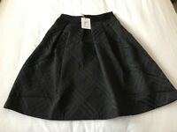 Ted Baker Check Bow Detail Full Skirt Size 1 New with Tags