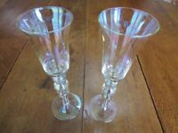 2 Champagne or wine glasses, in excellent condition, never used