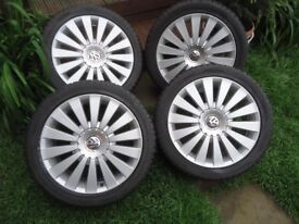 17 x 4 Alloys Wheels and WINTER TYRES Will Fit VW T 4 VW Caddy GOLF SAHARAN