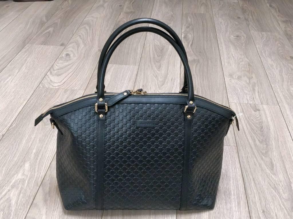 Gucci Designer Leather Handbag 100 Authentic With Receipt