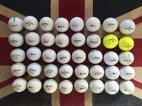 40x Titleist, Callaway, Srixon golf balls