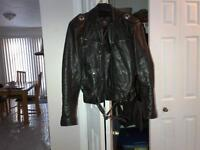 HARLEY DAVIDSON Men's Leather Jacket, LARGE