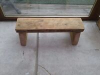 LOVELY LITTLE SOLID WOOD STOOL CHILDS BENCH HOP UP RECLAIMED WOOD CHARMING