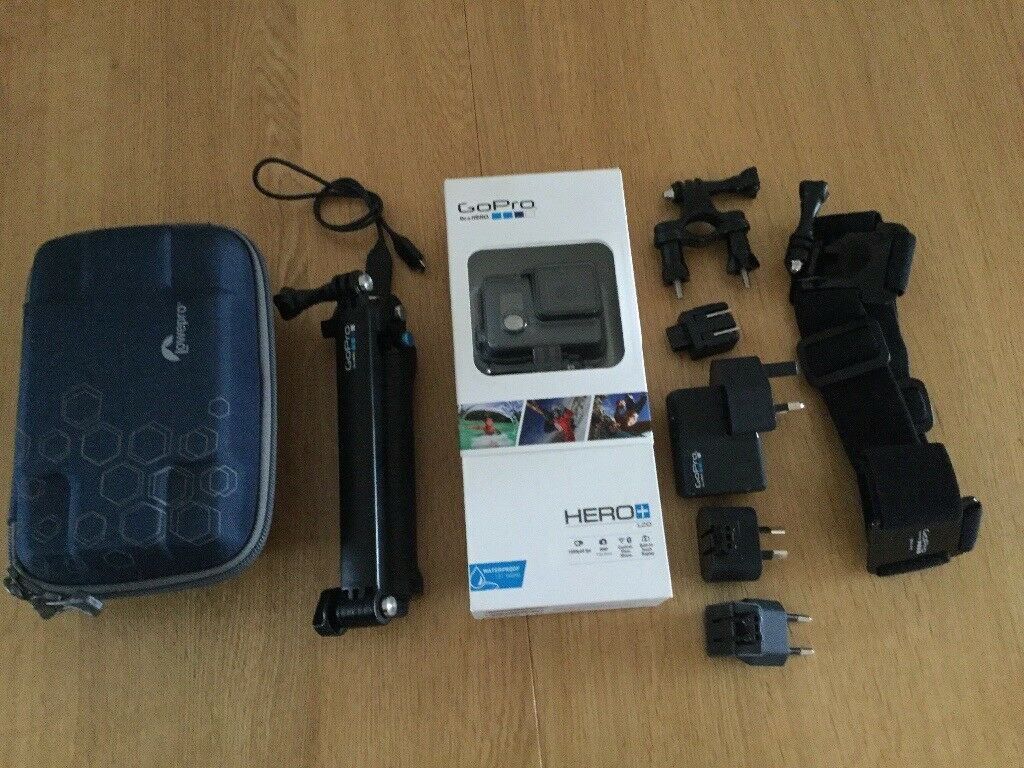 GoPro Hero+ LCD all action waterproof video camera plus accessories