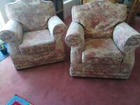 Two seats sofa plus armchairs