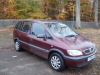 7 seater Vauxhall Zafira 1.6 on 04 plate with low mileage.