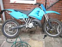 1999 husqvarna cr wre 125 road legal £1250 ono