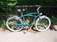 "SCHWINN BEACH CRUISER Bike Bicycle. Fully Serviced, Ready To Ride & Guaranteed. 18"" Frame. 5 Speed"