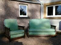 Ercol two seater sofa/settee and matching arm chair