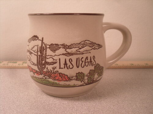 Las Vegas Nevada Desert with Cactus Souvenir Coffee Mug