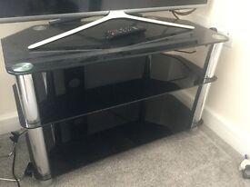 TV Table - Black Glass
