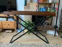 Simple Stylish Dark Wood John Lewis TV Stand with Collapsible Metal Legs