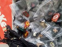 Box full of hand made pendants and broaches