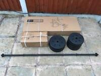 Brand New Pro Fitness Bench & Fly With 50kg Weights Set. Can deliver.
