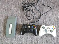 2 Xbox 360 controllers and hard drive