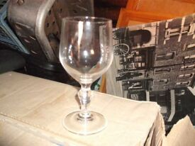 43 Matching Glass Drinking Glasses (boxed and unused)