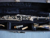 B&H Eb alto clarinet with case, m/piece, reeds, lovely-used as alto sax double, fake basset horn etc